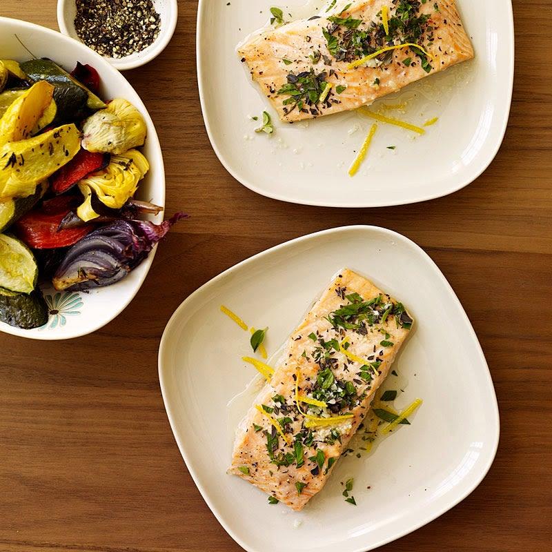 Lemon and herb roasted salmon