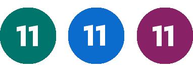 Grön 11, Blå 11, Lila 11