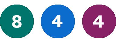 Grön 8, Blå 4, Lila 4