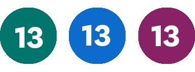 Grön 13, Blå 13, Lila 13