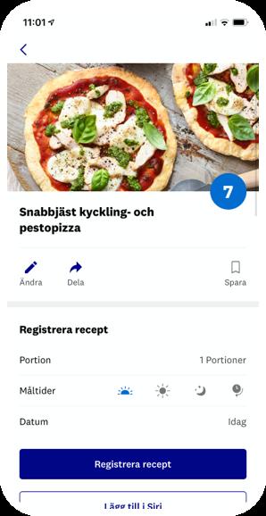 Snabbjäst kyckling- och pestopizza