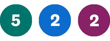 Grön 5, Blå 2, Lila 2
