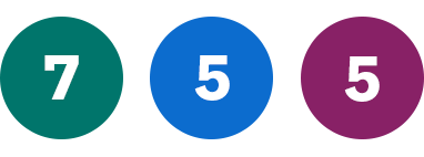 Grön 7, Blå 5, Lila 5