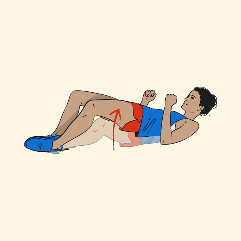 Ilustração de exercícios para pernas frog bump