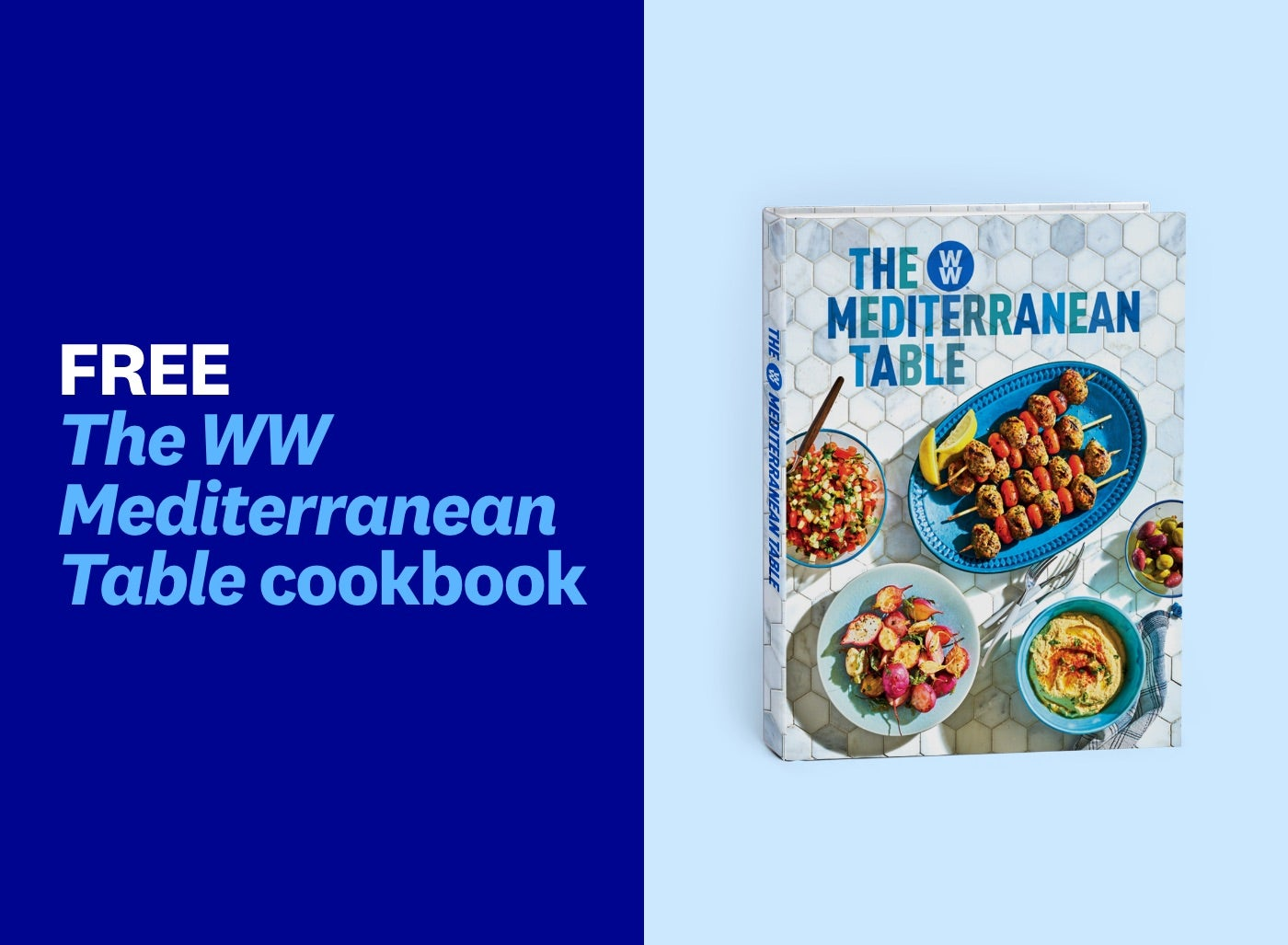 A cookbook is shown with potatoes and kebabs on the front of it.