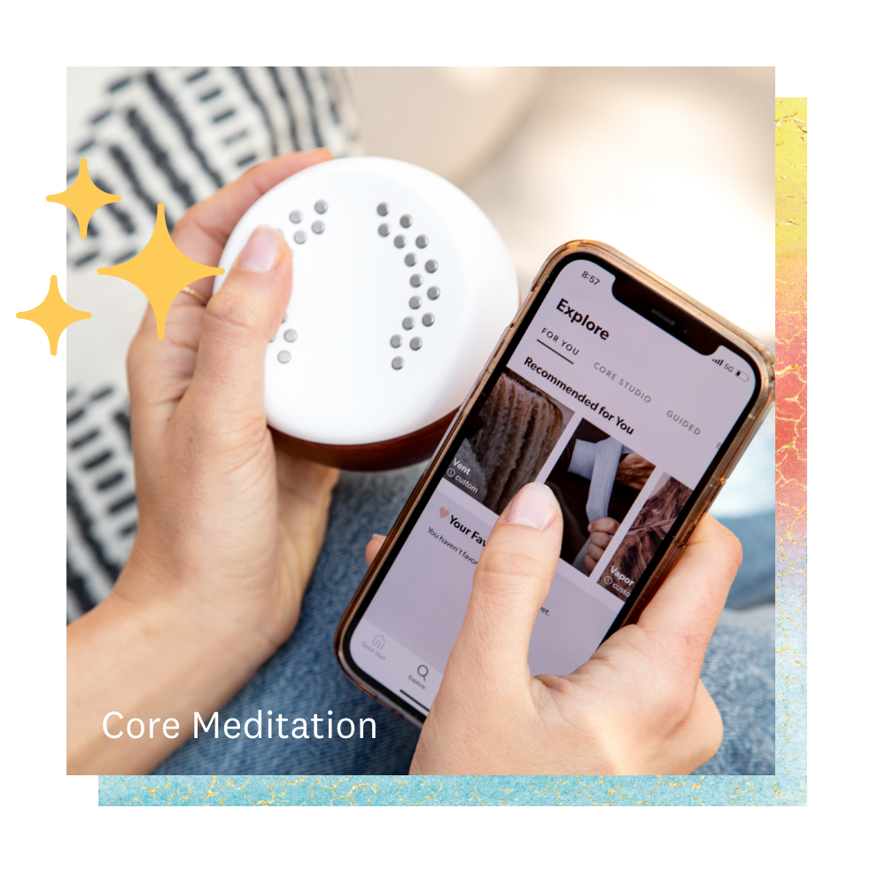 Core Meditation Trainer device and Core Meditation app