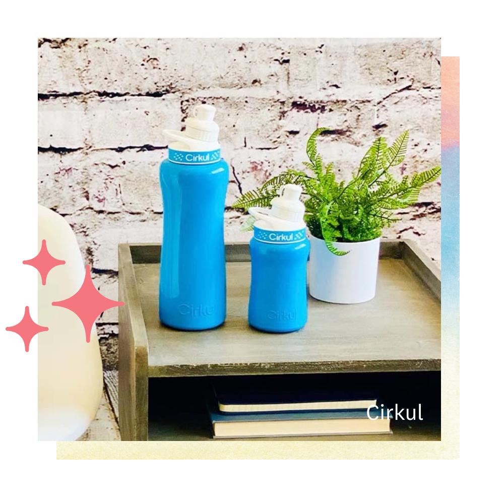 Two Cirkul water bottles