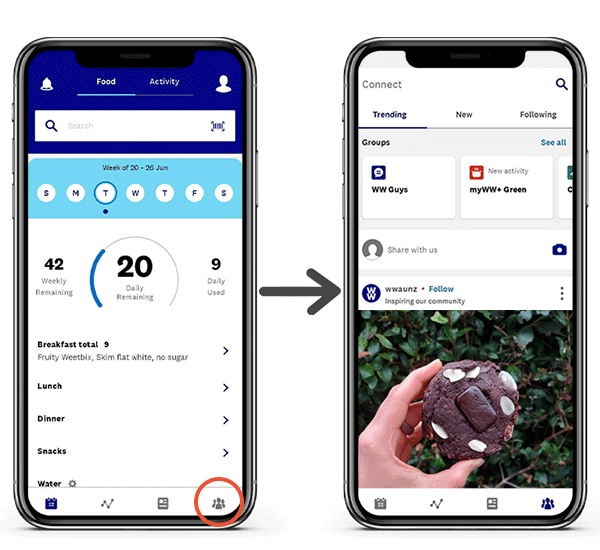 Connect Community in the WW app