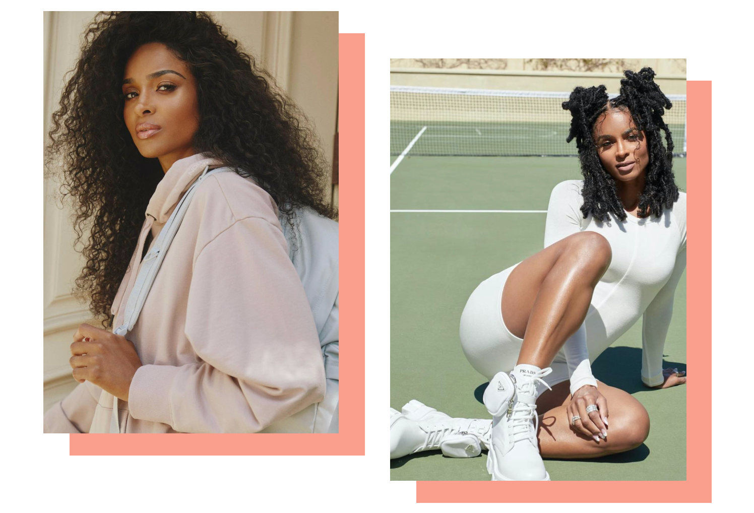 Two pictures of Ciara, WW Ambassador