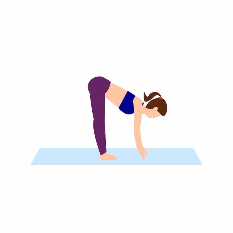 Ilustração do exercício para lombar chamado alongamento básico