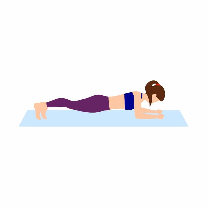 Ilustração do exercício para a lombar chamado ponte ventral