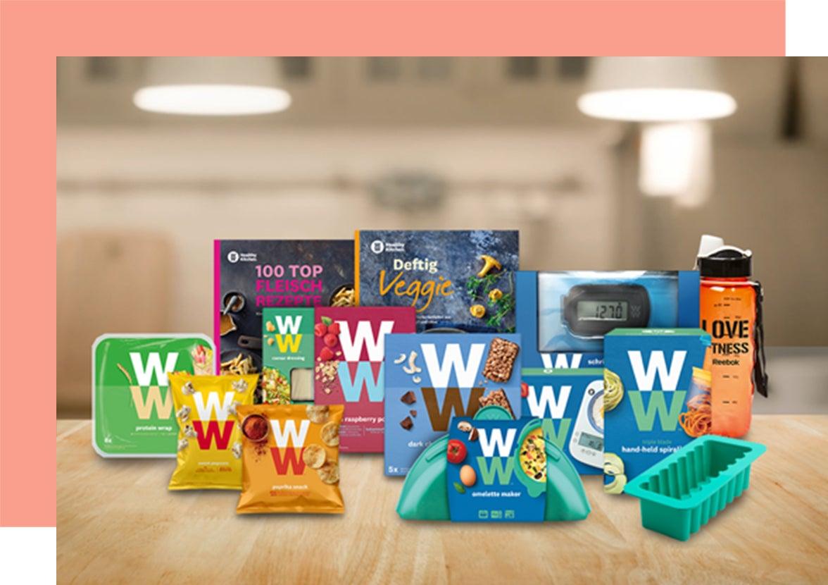 Eine Auswahl an WW Produkten
