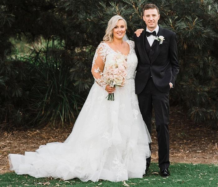 Kate in her wedding dress after loosing 30kg