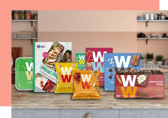 Mehrere WW Produkte auf einer Holzplatte