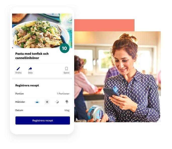 Hitta recept i appen baserat på vad du har hemma