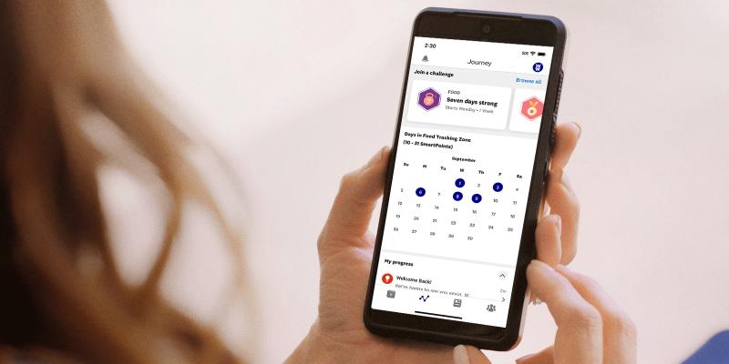 The WellnessWins screen in the WW app.